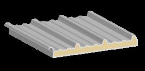 Econotecho, estructura del panel aislante.