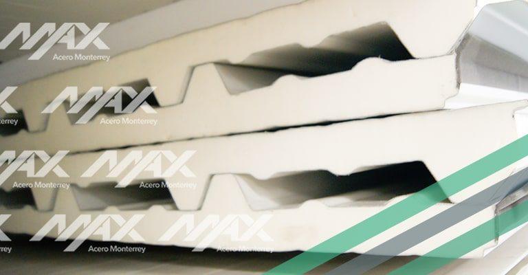 Panel tipo sándwich galvatecho, distribuido por Max Acero Monterrey.