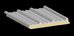 Galvatecho, estructura del panel aislante.