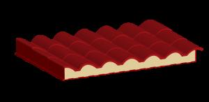 Metcoppo, estructura del panel aislante.