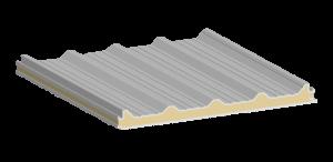 Multytecho, estructura del panel aislante. Max Acero Monterrey.