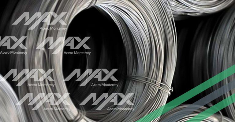 Alambre de acero en rollo; venta en Max Acero.