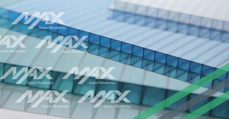 Lámina de policarbonato celular Max Acero