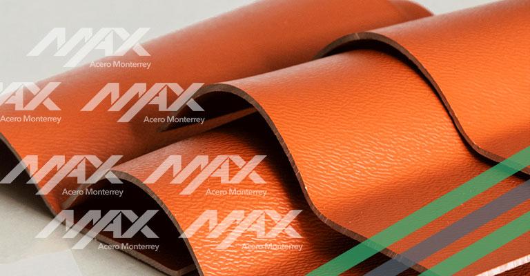 Lámina tipo teja PVC Max Acero