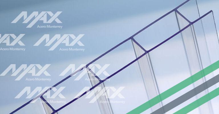 Policarbonato celular para techo Max Acero