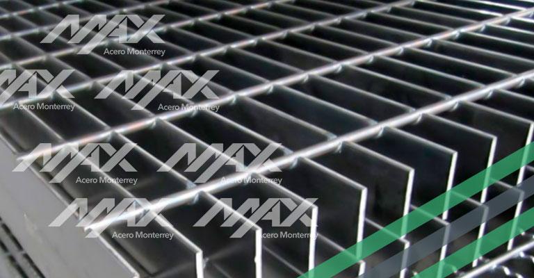 Rejilla barata de acero electroforjado. Max Acero Monterrey.